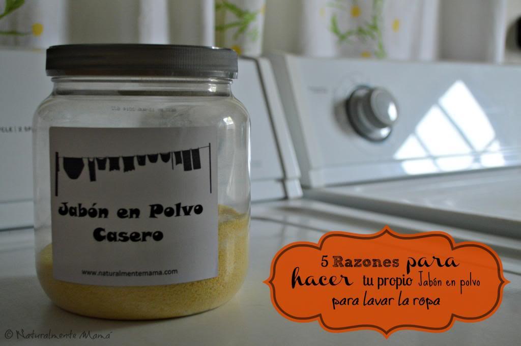 5 Razones para hacer tu propio Jabón en polvo para lavar la ropa