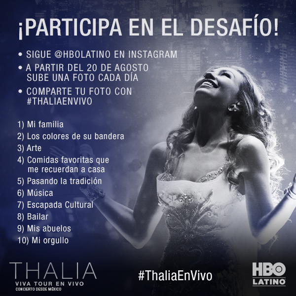 #ThaliaEnVivo Photo Challenge