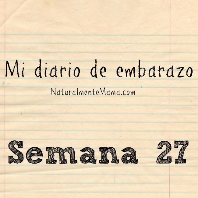 Mi diario de embarazo | Semana 27