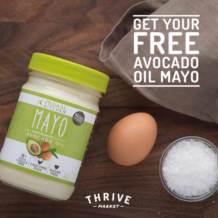 GRATIS: Frasco de Mayonesa de Aceite de Aguacate en Thrive Market