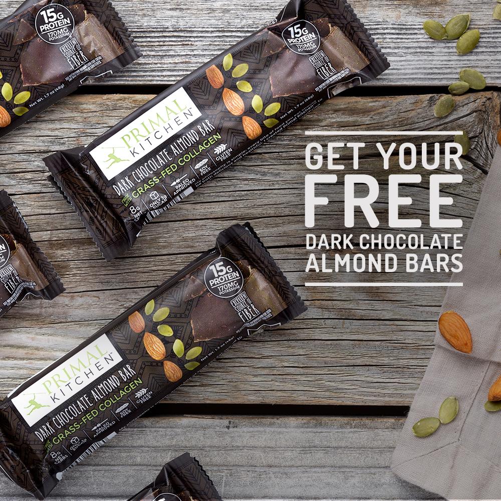 GRATIS: Barras de Almendra y Chocolate Negro de Primal Kitchen en Thrive Market